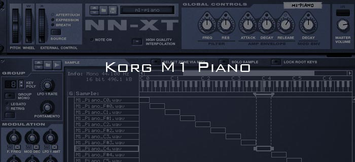 Creating House music with the Korg M1 Piano