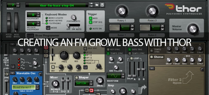 Creating an FM growl bass with Thor