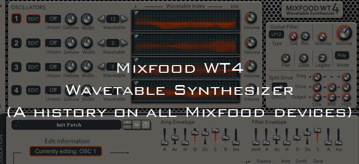 Mixfood WT4 Wavetable synthesizer Review