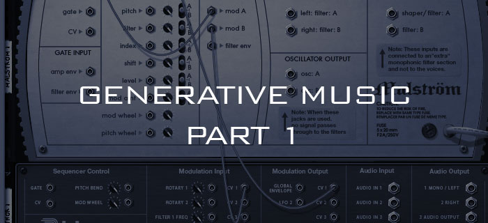 Generative music using Reason and modular synthesizers part 1