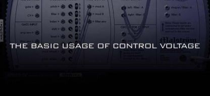 The basic usage of Control voltage