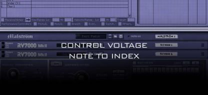Control Voltage Note to Index