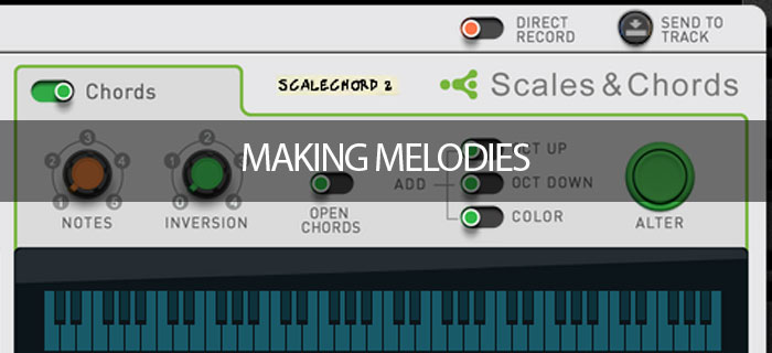 Playing melodies around scales
