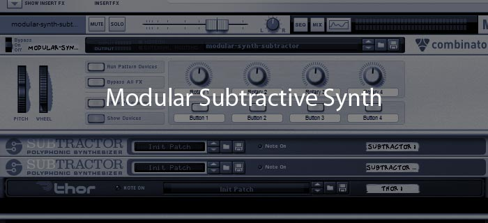 Modular synth with subtractive synthesis