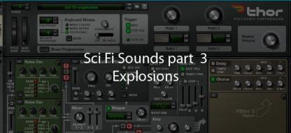 Sci Fi Explosion made in Reason